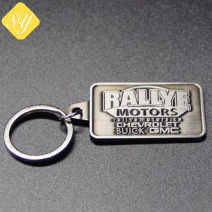 卸し売りカスタム金属の昇進のための鉄によって印刷されるキーホルダーのリング