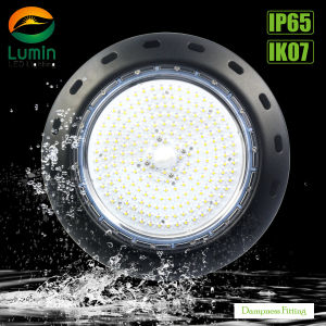 Marcação RoHS 200W LED Motion-Sensor Lâmpada High Bay Industrial UFO
