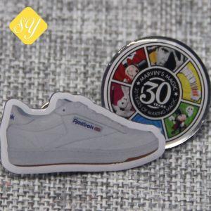 China Proveedor de metal personalizados Zapata el logotipo impreso insignia de solapa