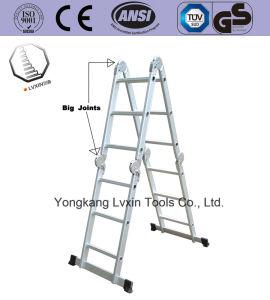 Escada de alumínio multifuncional com design profissional