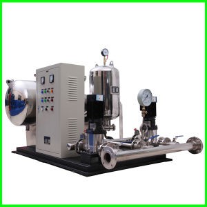 La presión negativa y el flujo de estabilizar el suministro de agua con bombas verticales