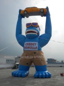 Gorila inflável com carro, Balão de publicidade infláveis (K2029)