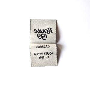 Los textiles de algodón tejido de poliéster personalizadas etiqueta tejida
