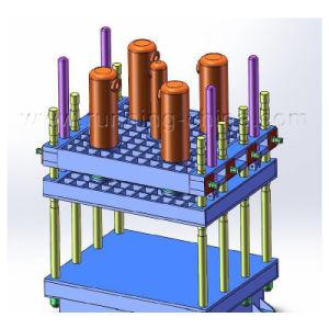 단단한 타이어를 위한 4개의 란 유형 고무 가황 압박 기계