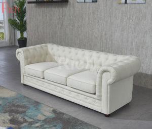 جيّدة يبيع يعيش غرفة أثاث لازم بناء شسترفيلد جلد أريكة