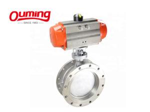 China Factory Dn500 PN10/16 Válvula Borboleta Wafer pneumática para a água