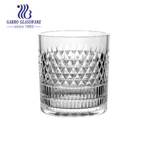 11ozによって刻まれるジュースのウィスキーのガラスコップ(GB040911ZL)