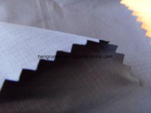 아래로 폴리에스테 호박단 Downproof 격자 무늬 재킷 직물