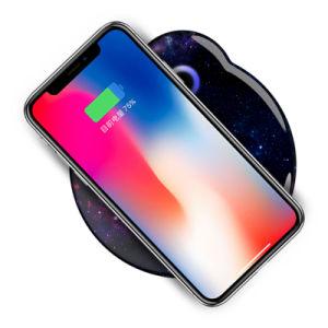 Universal 2 bobinas cargador rápido inalámbrico Pad para Samsung S8 para el iPhone x