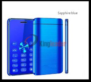 1.3Polegadas Mini-placa de banda quádrupla GSM Telefone celular com cartão SIM duplo e marcação (Q8)