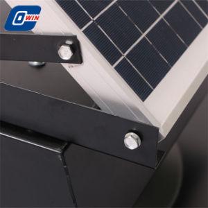 20 vatios Panel ajustable Powered Ventilador de techo con batería de almacenamiento