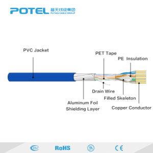 Blindado FTP Cat 6Um par entrançado PE o isolamento do cabo de comunicação