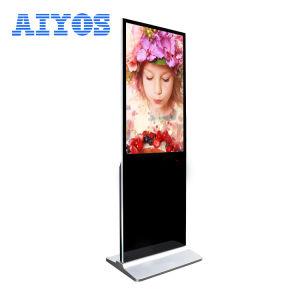 32 43 49 50 55 65 pouces de sol intérieur de la publicité interactive à écran tactile à commandes Digital Signage Kiosque