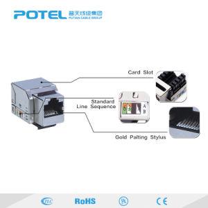 高品質180程度FTPのコンピュータネットワークCAT6 RJ45ジャックのモジュール
