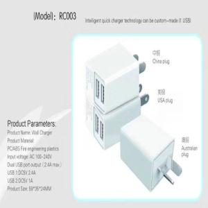 Los puertos dobles 2.4A con Ce RoHS cargador USB rápido para el iPhone