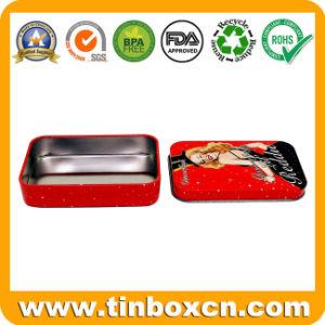 Vintage de Metal Rectángulo Personalizado Tin Box para el empaque de regalos