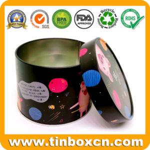 Una lata de metal redondo Candy Tin Box fabricante de China