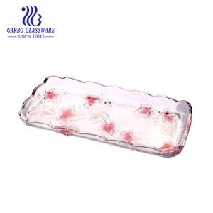 Plaque de verre rose pulvérisé pour mariage (GB1729AF-PDS)