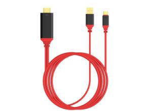 SamsungまたはMackbook/LG/HTC/AsusのためのHdmicable W/ChargingへのタイプC USB-C