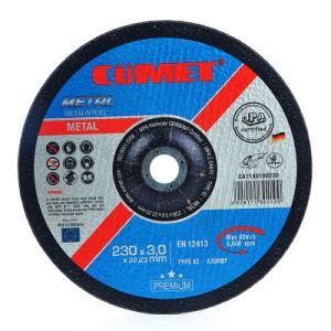 Disco de corte deprimido por (230 X3.2X22.2) Metal con certificados de la MPa