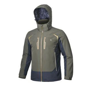 Clásico/Windproof mejor impermeable al aire libre y popular de los hombres chaqueta transpirable de color verde anorak