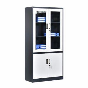 Meubles de bureau d'acier chinois Dépôt Armoire de stockage avec porte en verre