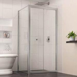 Armazón de aluminio en forma de L Gabinete de la ducha deslizante (MD1232)