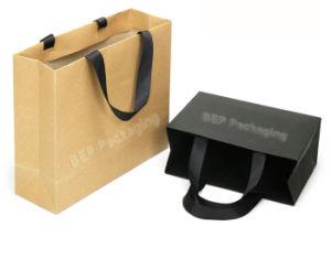 Les sacs de papier Kraft personnalisés, de luxe imprimés un sac de shopping, shopping sac fourre-tout