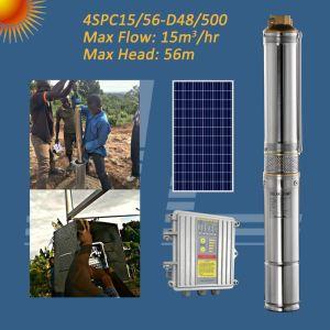 Gran Solar de 4 pulgadas de flujo del sistema de bomba de agua sumergible con MPPT controlador