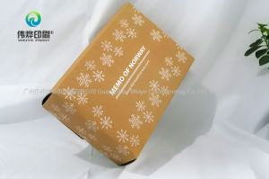 De Douane die van Wholesales het Verpakkende Vakje van het Document van Kraftpapier vouwen