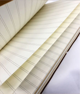 Retro Manual Simples Livro conta a tira de couro Notebook Notepad