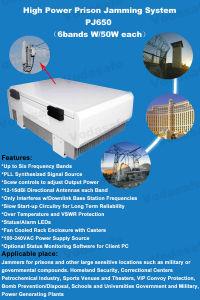 Sistema de Bloqueio da prisão de alta potência Jammmer Drone2.4G Wi-Fi/Celular/Bluetooth, 3G, 4G LTE, Wi-Fi, Bluetooth, GPS, potência de saída total de 300W; o raio de cobertura 50-150m