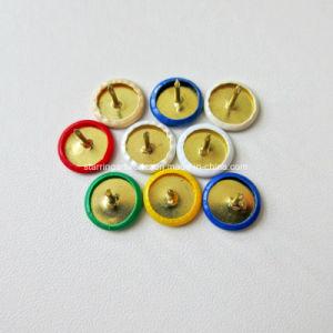 10mm bunter Plastiküberzogene Zeichnungs-Daumen-Heftzwecke