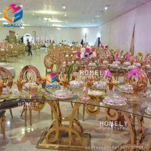 Eettafel van de Lijst van het Roestvrij staal van de Rechthoek van de Luxe van het Banket van het hotel de In het groot
