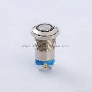 12mm de acero inoxidable resistente al agua Interruptor Pulsador