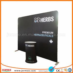 Custom 8 ФУТОВ 10 ФУТОВ 20 ФУТОВ реклама портативные всплывающее алюминия торговой выставке Display выставочный стенд прямой подставка для дисплея или изогнутые ПВХ натяжение ткани дисплей