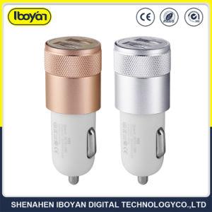 Bewegliche Arbeitsweg-Doppel-Port USB-Auto-Aufladeeinheit für Handy