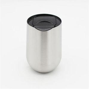 16oz vide oeuf Tasse thermos avec couvercle verre bouteille de vin en acier inoxydable Tumbler couple Champagne tasse à café