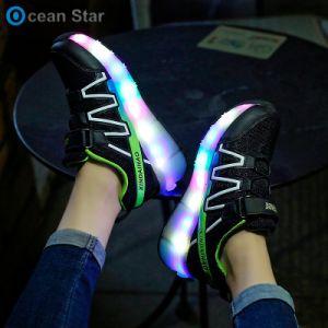 아이 롤러 스케이트 섬광 빛 2 바퀴 철회 가능한 롤러 단화