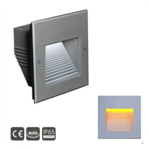 3W Squareindoor empotrables LED de luz de pared