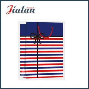 세로줄 물색 선물 종이 봉지를 가진 매일에 시리즈