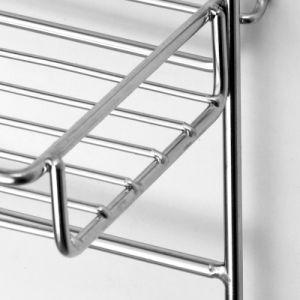 Doble capa baño Cesta colgante de Rack con ventosa de vacío