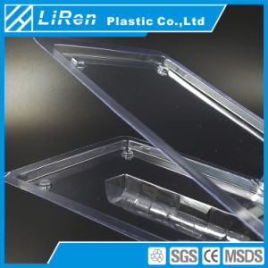 Personalizado de alta calidad de PVC transparente Embalaje Clamshell con flash LED