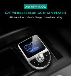 Juego de manos libres Bluetooth Car Kit Transmisor FM MP3 Reproductor de 5V 2.1A USB Cargador de coche apoyo Tarjeta Micro SD 4G-32G