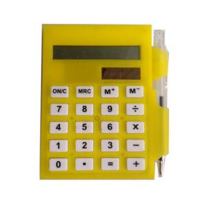 Calcolatore solare del supporto di scheda con la penna di sfera per la promozione