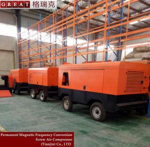 Compressore d'aria rotativo mobile portatile della vite del motore diesel