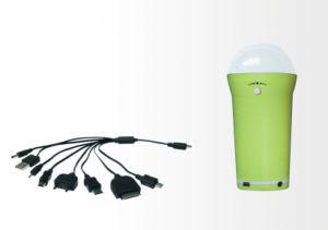 L'indicatore luminoso domestico solare 1W di vendita calda LED a 3W è registrabile