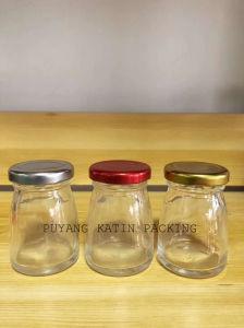 Bol en verre moulé en forme de Clair bouteille pour le jus de fruits