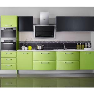 Design de armário de cozinha lustrosa verde brilhante (OP11-X158)