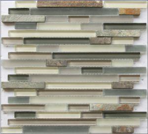 Glace de tuile de bande et mosaïque de pierre (GS100-B)